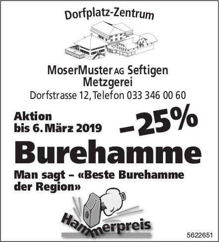 MoserMuster AG, Seftigen - Aktion: Buurehamme