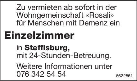 Einzelzimmer in der Wohngemeinschaft «Rosali» für Menschen mit Demenz in Steffisburg zu vermieten