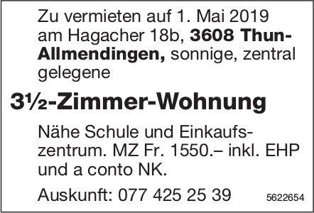 3½-Zimmer-Wohnung in Thun- Allmendingen zu vermieten