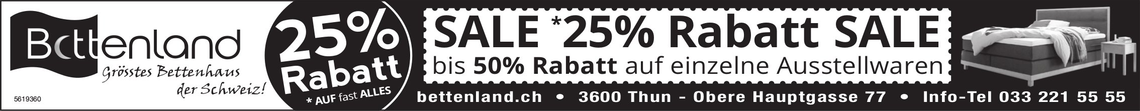 Bettenland, Thun - SALE 25%