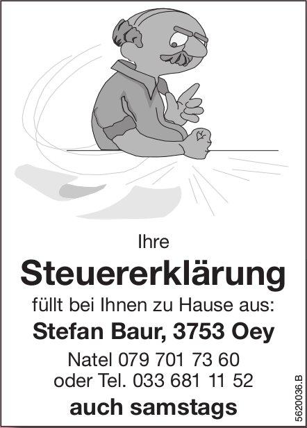 Stefan Baur, Oey - Füllt Ihnen Ihre Steuererklärung bei Ihnen zu Hause aus