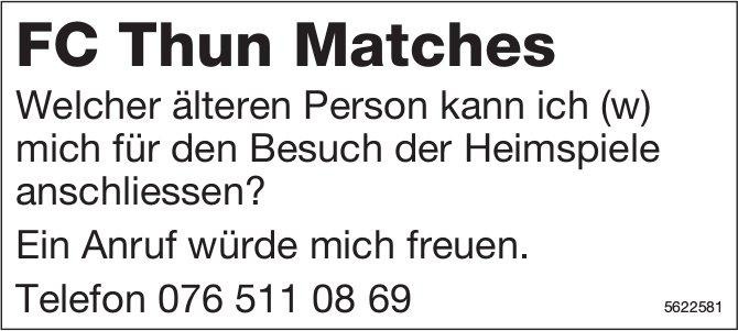 FC Thun Matches: Welcher älteren Person kann ich mich für den Besuch der Heimspiele anschliessen?