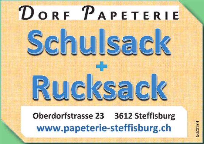 DORF PAPETERIE - Schulsack + Rucksack