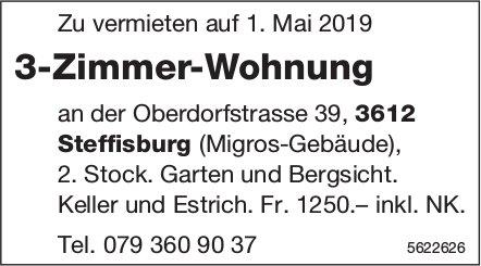 3-Zimmer-Wohnung in Steffisburg zu vermieten