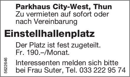 Einstellhallenplatz im Parkhaus City-West, Thun zu vermieten