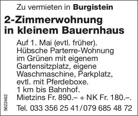 2-Zimmerwohnung in kleinem Bauernhaus in Burgistein zu vermieten