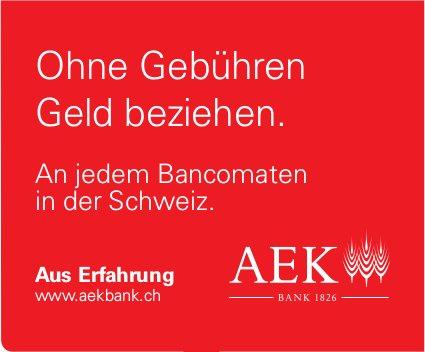 AEK Bank - Ohne Gebühren Geld beziehen.