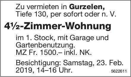 4½-Zimmer-Wohnung in Gurzelen zu vermieten / Besichtigung am 23. Feb.