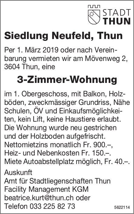 3-Zimmer-Wohnung in Siedlung Neufeld, Thun, zu vermieten