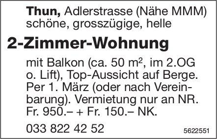 2-Zimmer-Wohnung Nähe MMM in Thun zu vermieten