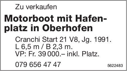 Motorboot mit Hafenplatz in Oberhofen, zu verkaufen