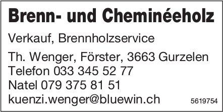 Brenn- und Cheminéeholz: Verkauf, Brennholzservice - Th. Wengen