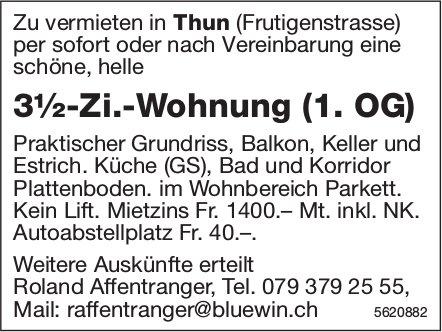 3½-Zi.-Wohnung (1. OG) in Thun zu vermieten