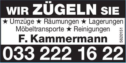 WIR ZÜGELN SIE - F. Kammermann