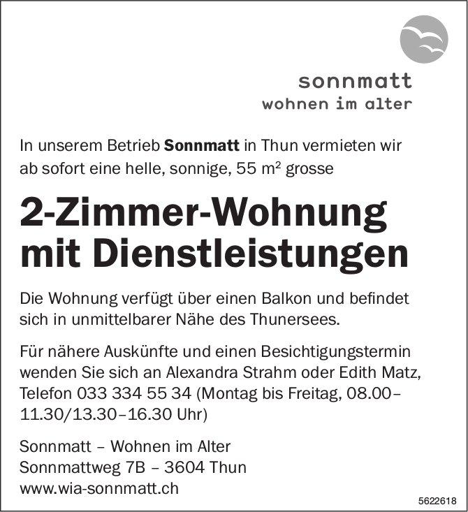 2-Zimmer-Wohnung mit Dienstleistungen im Betrieb Sonnmatt in Thun zu vermieten