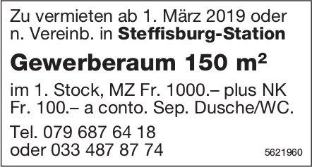Gewerberaum 150 m2 in Steffisburg-Station zu vermieten