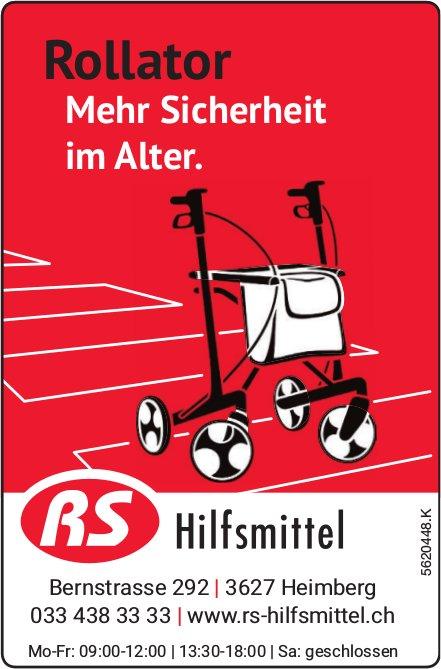 RS Hilfsmittel - Rollator: Mehr Sicherheit im Alter.