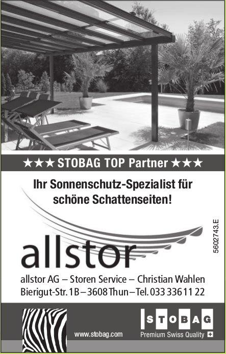 allstor AG, Storen Service - Ihr Sonnenschutz-Spezialist für schöne Schattenseiten!