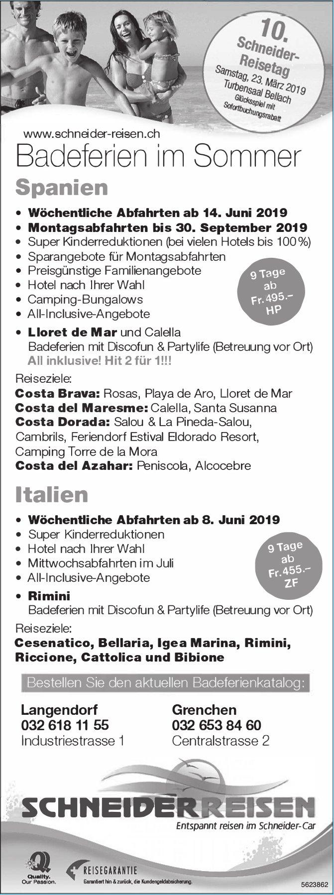 Schneider Reisen - Badeferien im Sommer