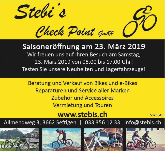 Stebi's Check Point GmbH - Saisoneröffnung am 23. März