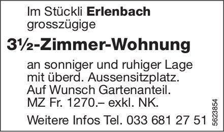 3½-Zimmer-Wohnung im Stückli Erlenbach zu vermieten