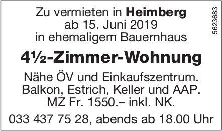 4½-Zimmer-Wohnung in Heimberg zu vermieten