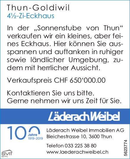 4½-Zi-Eckhaus in Thun-Goldiwil zu verkaufen