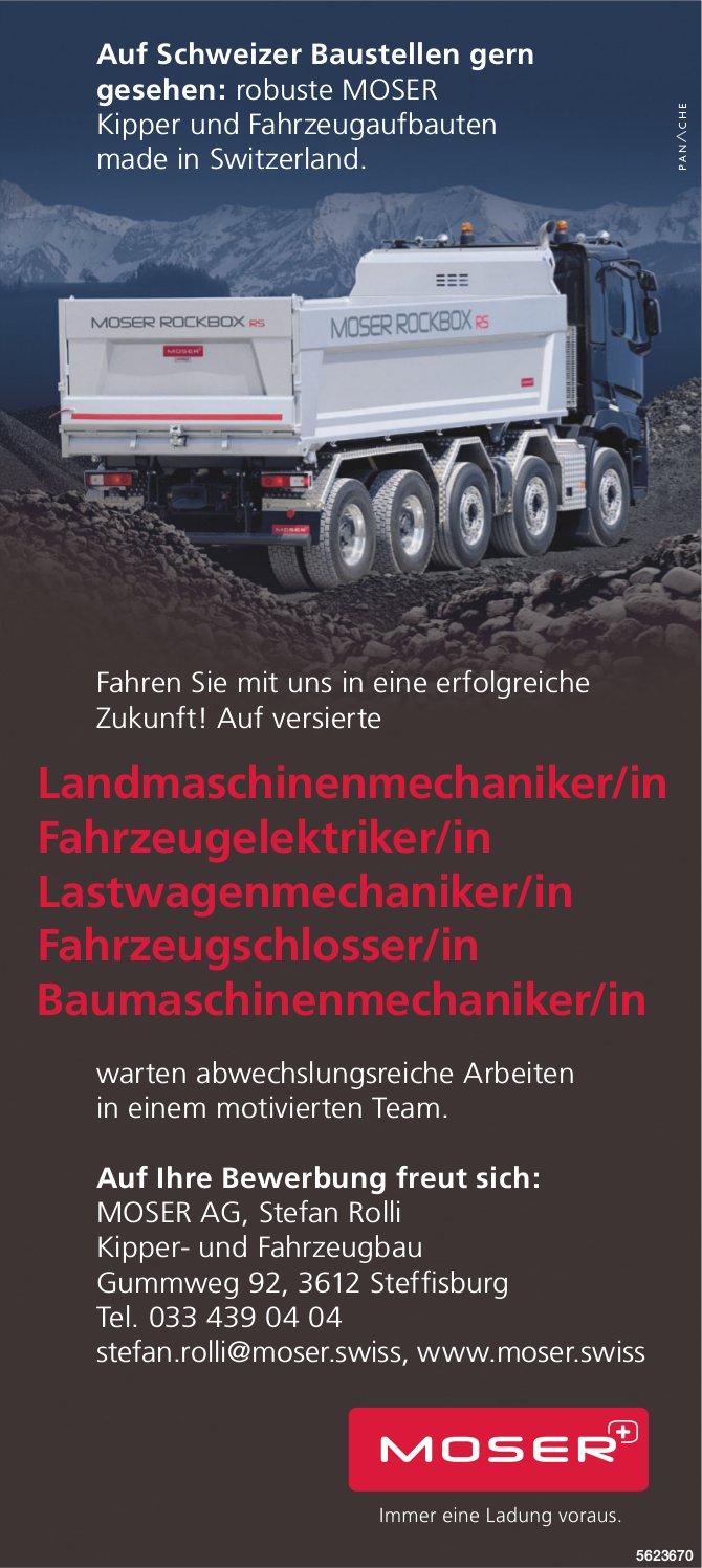 Versierte Mitarbeiter/innen, MOSER AG, Steffisburg, gesucht