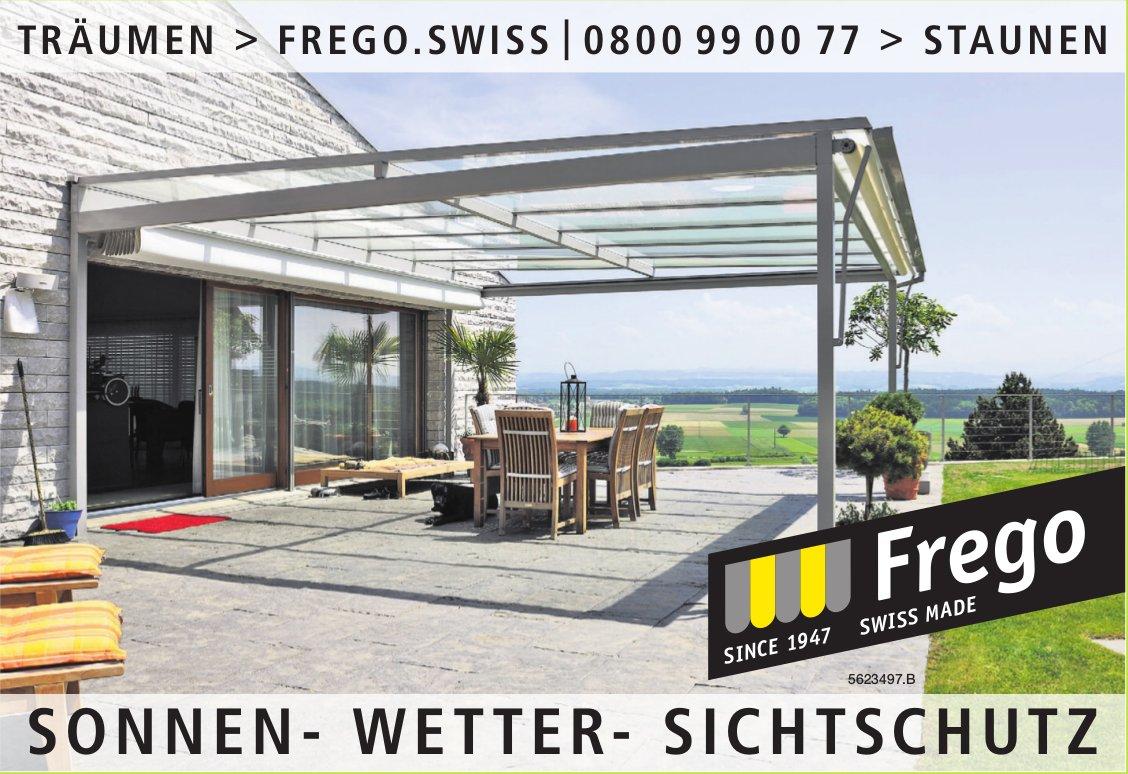 TRÄUMEN > FREGO.SWISS - SONNEN- WETTER- SICHTSCHUTZ