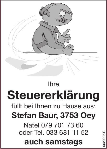 Stefan Baur füllt bei Ihnen zu Hause Ihre Steuererklärung aus