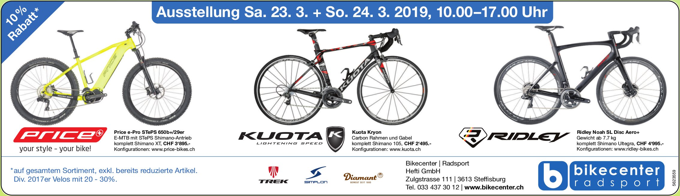 Bikecenter / Radsport - Ausstellung, 23. +24. März