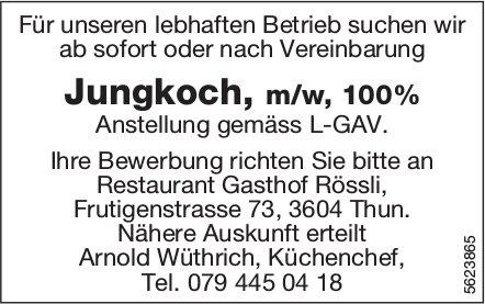 Jungkoch, m/w, 100%, Restaurant Gasthof Rössli, Thun, gesucht