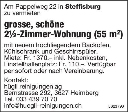 Grosse, schöne 2½-Zimmer-Wohnung (55 m2) in Steffisburg zu vermieten