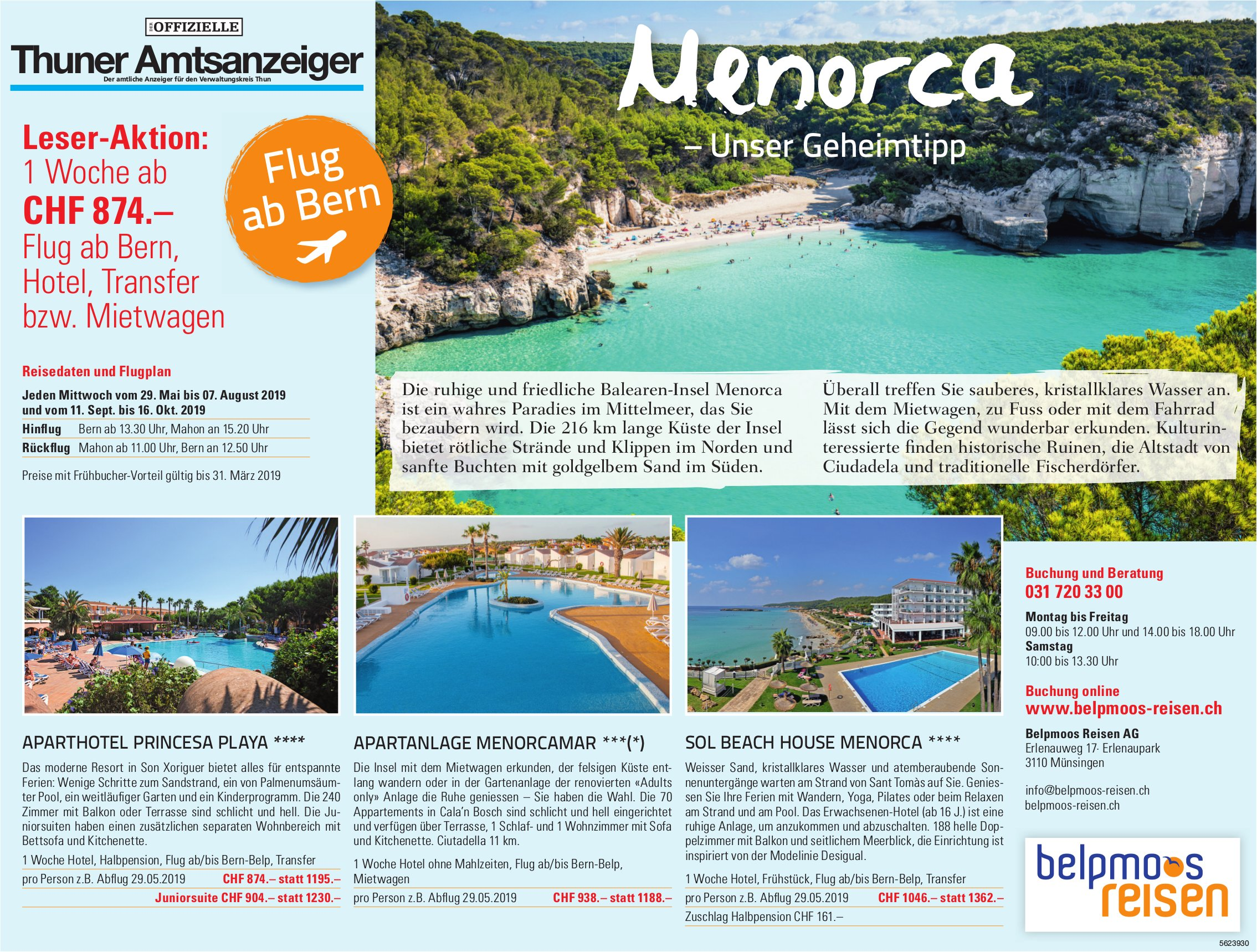 Leser-Aktion - Menorca, unser Geheimtipp
