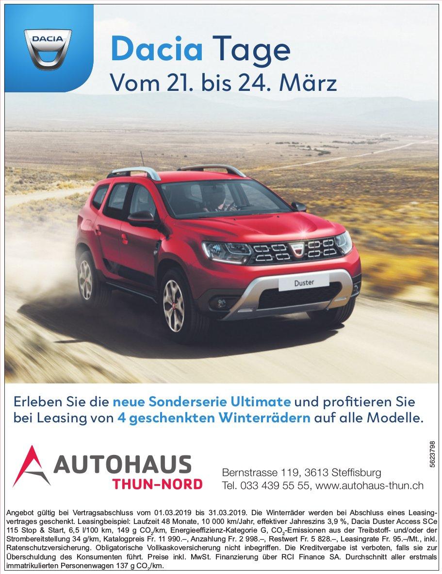 Autohaus Thun-Nord - Dacia Tage vom 21. bis 24. März