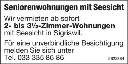 2- bis 3½-Zimmer-Seniorenwohnungen in Sigriswil zu vermieten