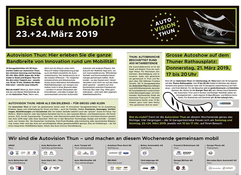 Auto Vision Thun, 23.+ 24. März