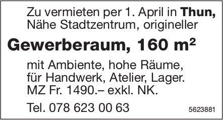 Gewerberaum, 160 m2 in Thun zu vermieten