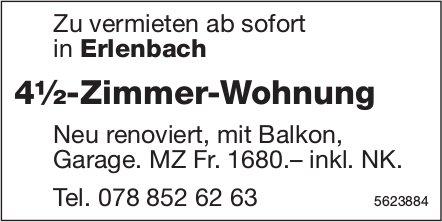 4½-Zimmer-Wohnung in Erlenbach zu vermieten