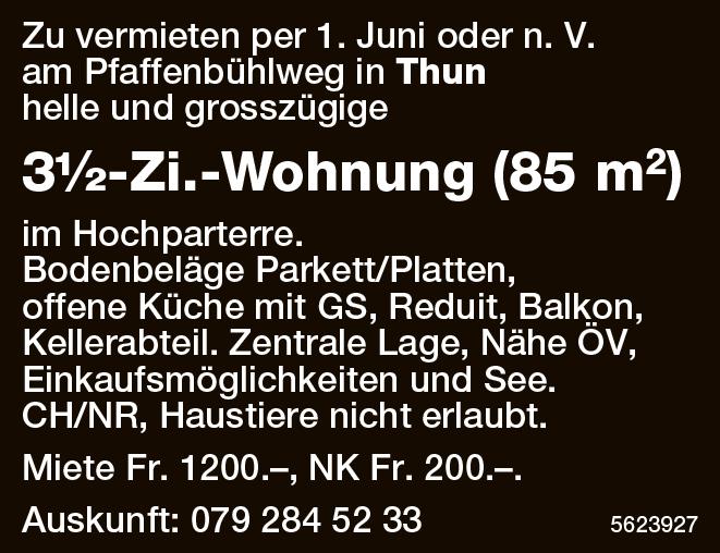 3½-Zi.-Wohnung (85 m2) in Thun zu vermieten