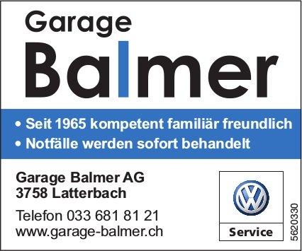Garage Balmer AG, Latterbach - Seit 1965 kompetent familiär freundlich