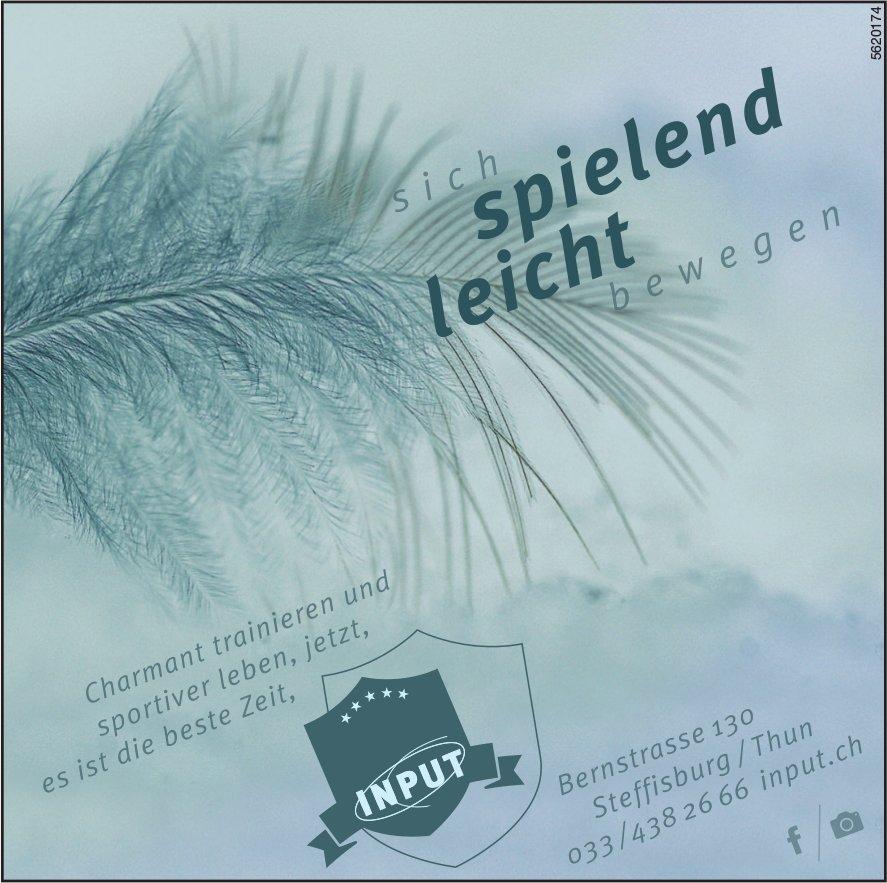 INPUT, Steffisburg / Thun - sich spielend leicht bewegen