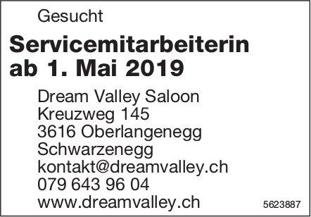 Servicemitarbeiterin, Dream Valley Saloon, Oberlangenegg-Schwarzenegg, gesucht