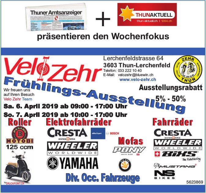 Velo Zehr - Frühlings-Ausstellug, 6. + 7. April