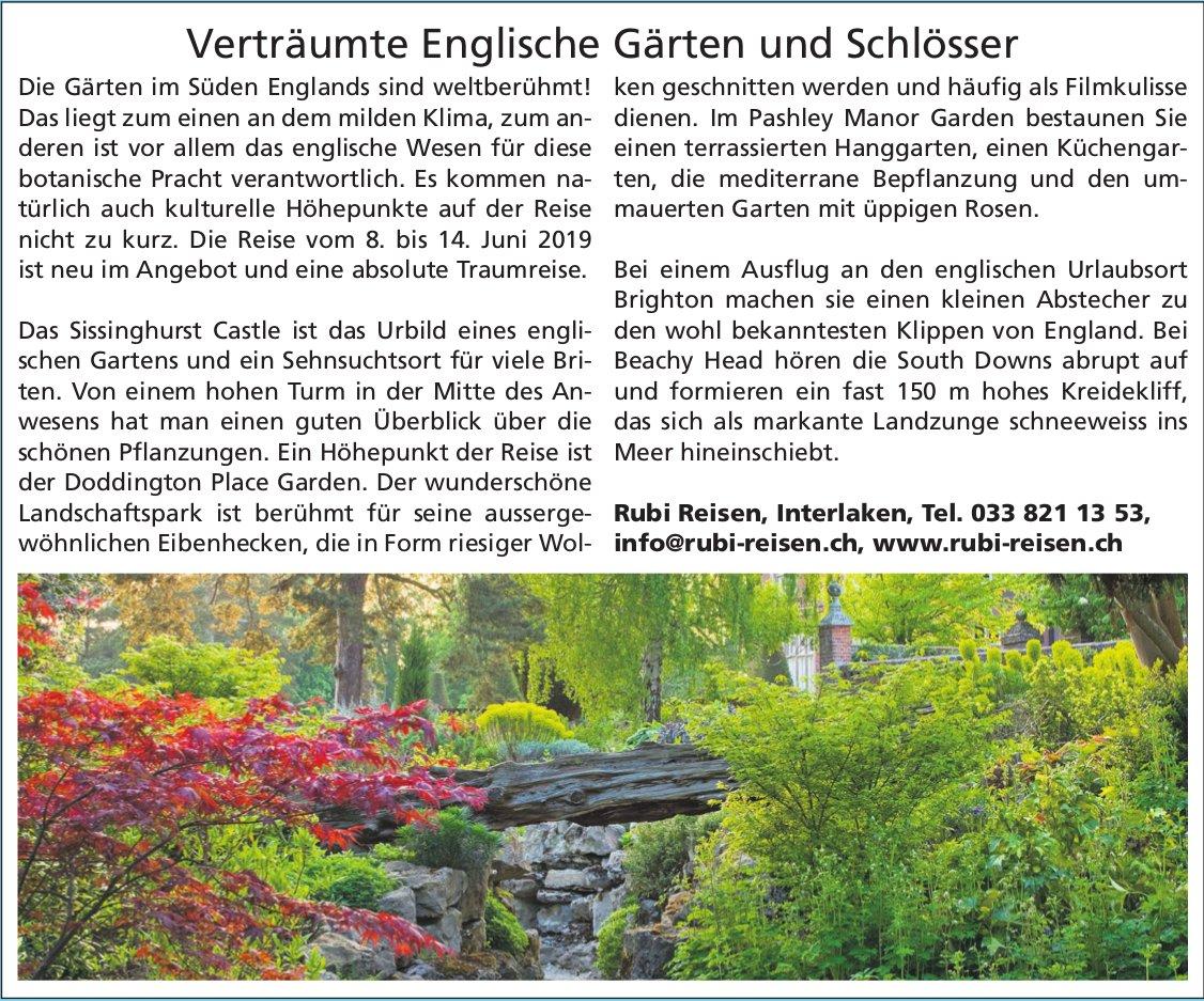 Rubi Reisen - Verträumte Englische Gärten und Schlösser