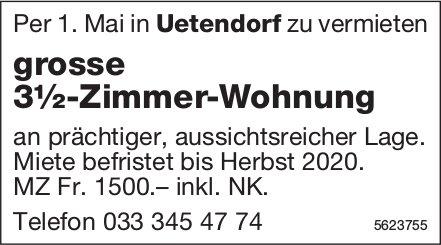 Grosse 3½-Zimmer-Wohnung in Uetendorf zu vermieten