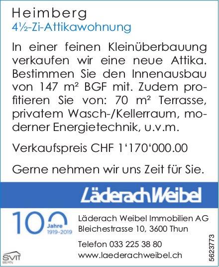 4½-Zi-Attikawohnung in Heimberg zu verkaufen