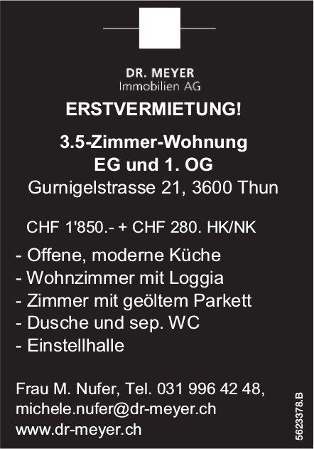 Erstvermietung 3.5-Zimmer-Wohnung in Thun
