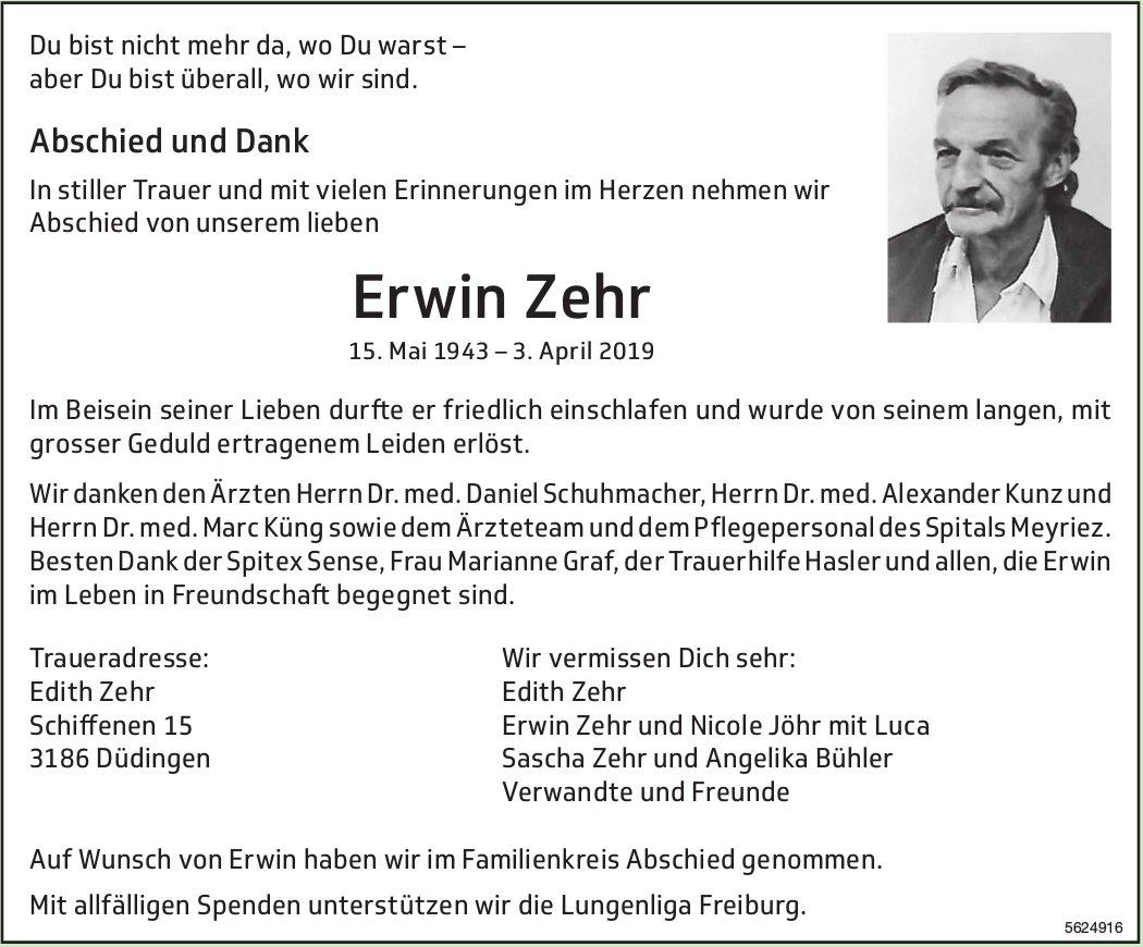Zehr Erwin, April 2019 / TA