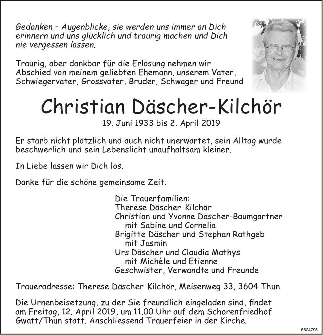 Däscher-Kilchör Christian, April 2019 / TA